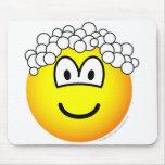 Hair washing emoticon   mousepad