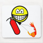 Fire extinguising smile   mousepad