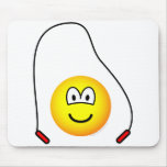 Skipping emoticon   mousepad