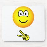 Scissors emoticon rock - paper - scissors  mousepad