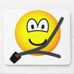 Seat belt emoticon   mousepad