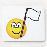 White flag emoticon   mousepad
