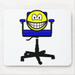 Office chair smile   mousepad