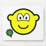 Good luck clover buddy icon Holding  mousepad