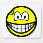 Dented smile   mousepad
