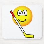 Ice hockey emoticon   mousepad