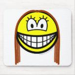 Brunette smile   mousepad