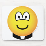 Clerical emoticon   mousepad