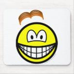 Wig losing smile   mousepad