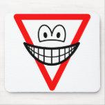 Yield smile   mousepad