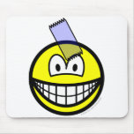 Sticky taped smile   mousepad