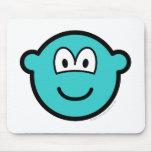 Colored buddy icon azure  mousepad