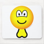 Emoticon with balls   mousepad