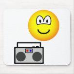Boom box radio emoticon   mousepad