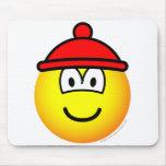 Bobble hat emoticon   mousepad