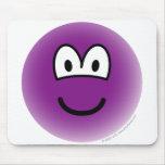 Colored emoticon violet  mousepad