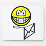 Letter opening smile   mousepad