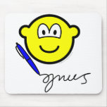 Writing buddy icon   mousepad