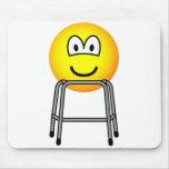 Zimmer frame emoticon   mousepad