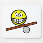Balance board smile   mousepad