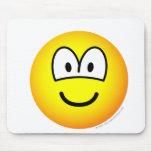 Big eyed emoticon   mousepad
