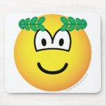 Caesar emoticon   mousepad