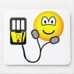 Heart defibrillator emoticon   mousepad