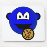 Cookie monster emoticon   mousepad