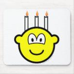 Birthday cake buddy icon Three candles  mousepad