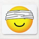 Blindfolded emoticon   mousepad