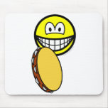 Tambourine playing smile   mousepad
