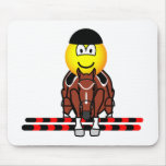 Horse show jumping emoticon Olympic sport Equestrian mousepad