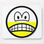 Half empty smile Pessimist  mousepad