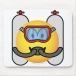 Scubadive emoticon   mousepad