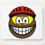 Biker smile muddy  mousepad