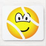 Tennisball emoticon   mousepad