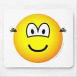 Hairy ears emoticon   mousepad
