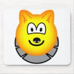 Wolf emoticon   mousepad