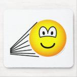 Speeding emoticon   mousepad