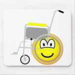 Wheelchair emoticon Side view  mousepad