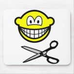 Cutting smile scissors  mousepad