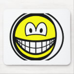 Sore tooth smile Bandaged  mousepad