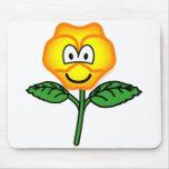 Pansy emoticon   mousepad