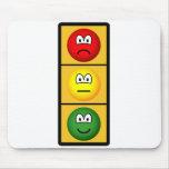 Traffic light emoticon happy - neutral - sad  mousepad