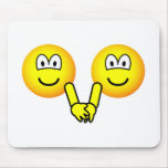 Holding hands emoticons   mousepad