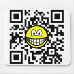Qr Code smile 2D barcode  mousepad
