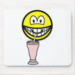Milkshake smile   mousepad