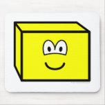 Rectangular prism buddy icon   mousepad