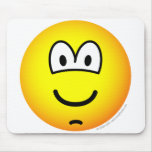 Chin dimple emoticon   mousepad