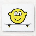 Skateboarding buddy icon   mousepad